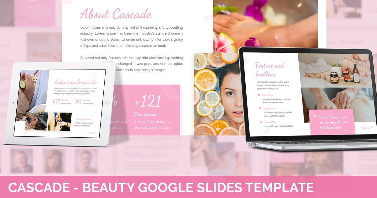 Download Cascade - Beauty Google Slides Template by SlideFactory