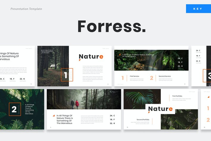Thumbnail for Foress - Nature Keynote Presentation Template