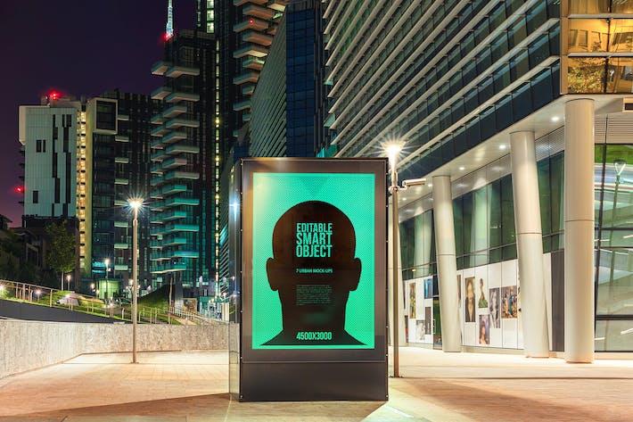 Thumbnail for Urban Poster-Billboard Maquetas - Edición Nocturna #7