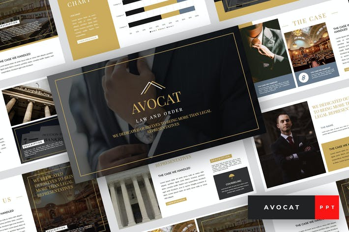Thumbnail for Avocat - Lawyer PowerPoint Template
