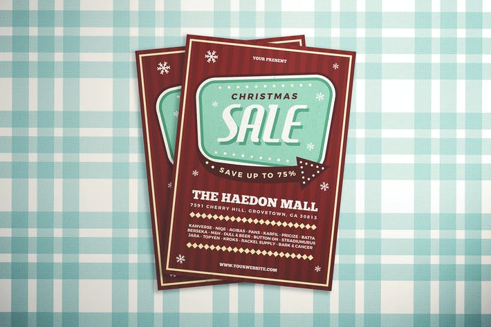 Thumbnail for Retro Christmas Sale Flyer