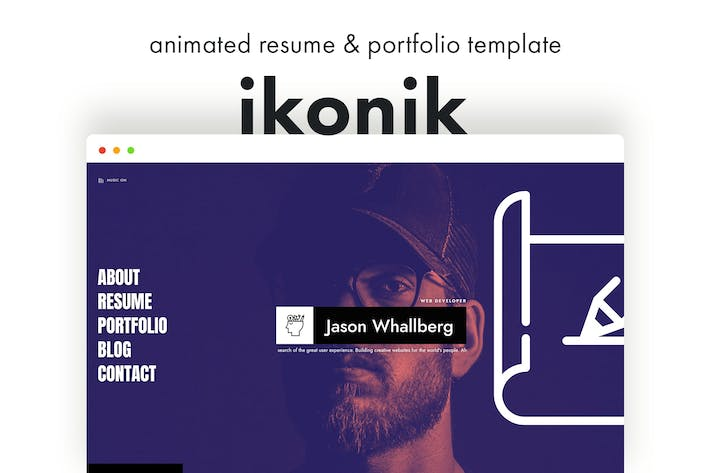 Thumbnail for ikonik - Resume/CV Animated Template