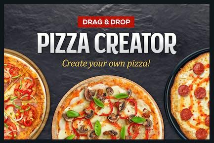 Pizza Creator - Glisser-déposer ingrédients