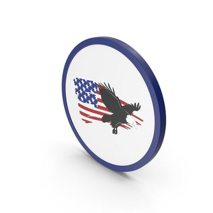 Icon American Flag With Eagle
