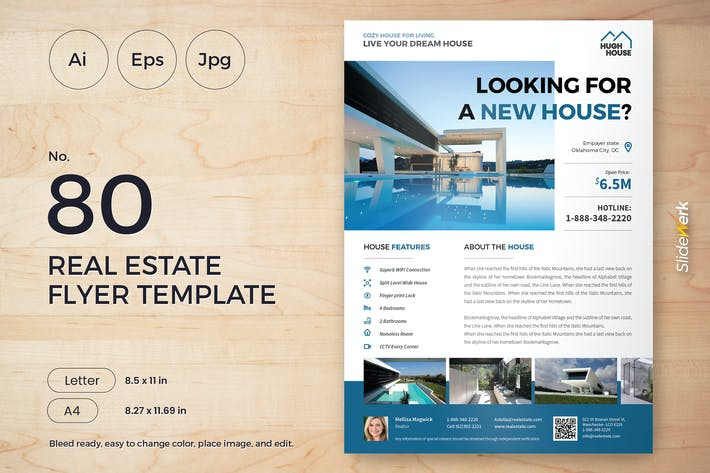 Cover Image For Real Estate Flyer Template 80 - Slidewerk