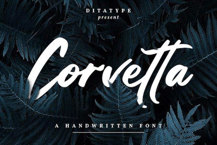 Thumbnail for Corvetta-Bold Handwritten Font