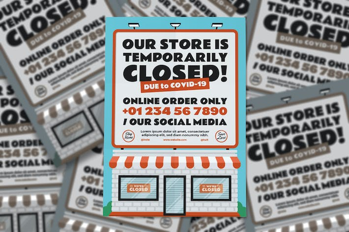 Thumbnail for Our Store is Temporarily Closed Flyer