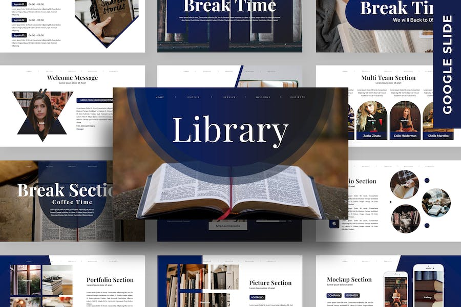 Library - Business Google Slide Template
