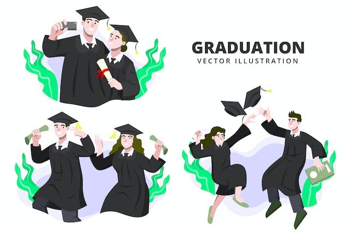 Graduation - Activity Vector Illustration