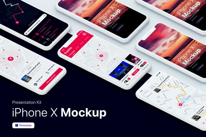 Cover Image For Kit de présentation - iPhone vitrine Mockup
