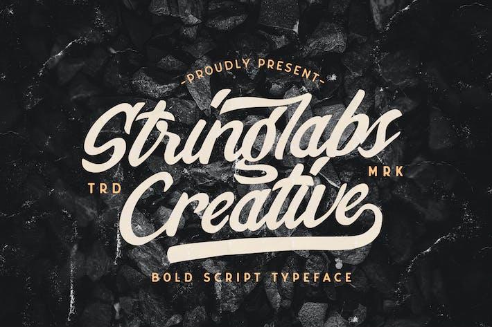 Thumbnail for Stringlabs Creative - Bold Script Font