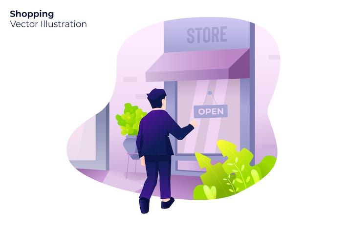 Thumbnail for Shopping - Vector Illustration