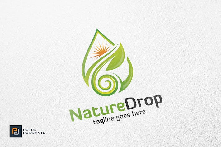 Thumbnail for Nature Drop / Droplet - Logo Template