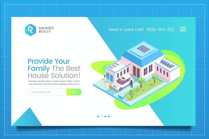 Thumbnail for Mortgage Solution Web Header PSD Template Vol. 02