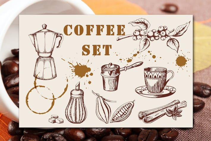 Thumbnail for Vintage Coffee Set