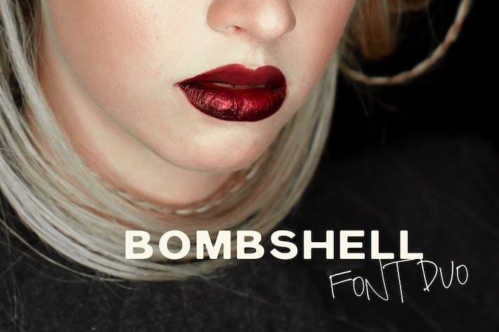 Thumbnail for Bombshell Font Duo