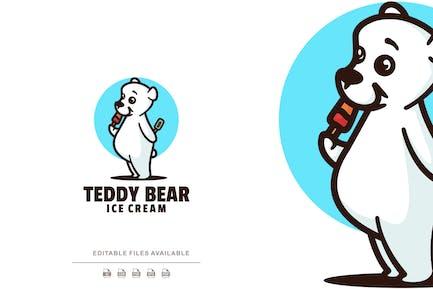 Teddy Bear Cartoon Logo