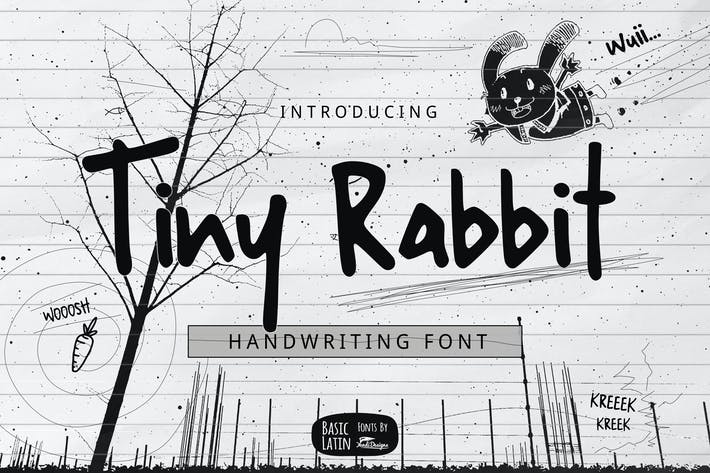 Thumbnail for Tiny Rabbit Handwriting Font