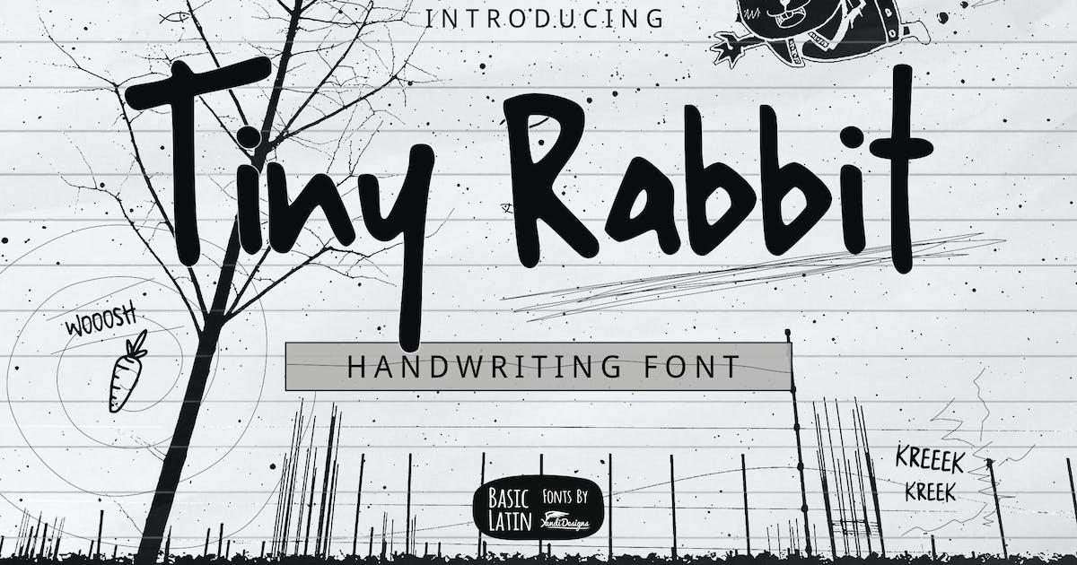 Tiny Rabbit Handwriting Font by yandidesigns