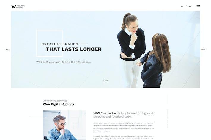 Thumbnail for WON - Clean Multipurpose HTML