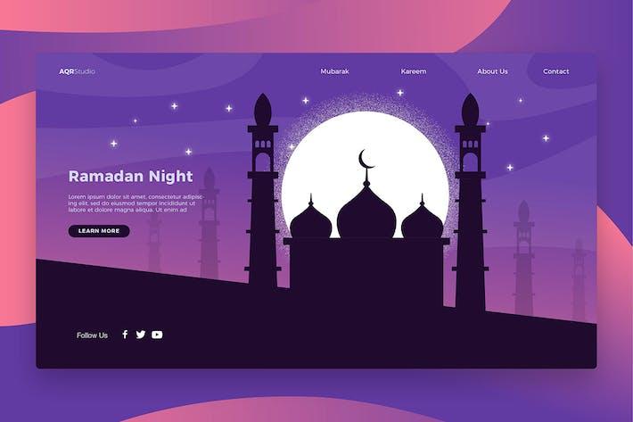 Thumbnail for Ramadan Night - Banner & Landing Page