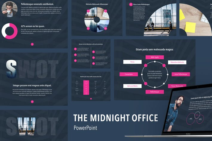 Thumbnail for Midnight Office PowerPoint Template