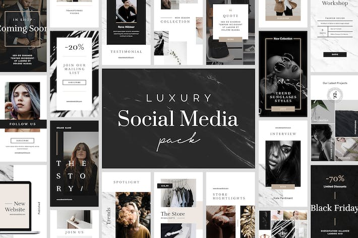 Thumbnail for Luxury Social Media Pack