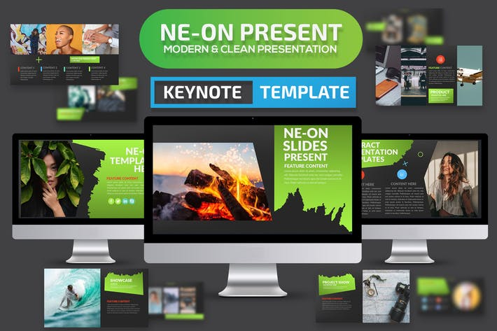 Cover Image For Ne-on Keynote Presentation Template