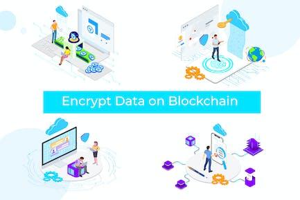 Encrypt Data on Blockchain Isometric 1 - TU