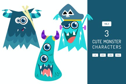 Cute Monster Characters Vol.3