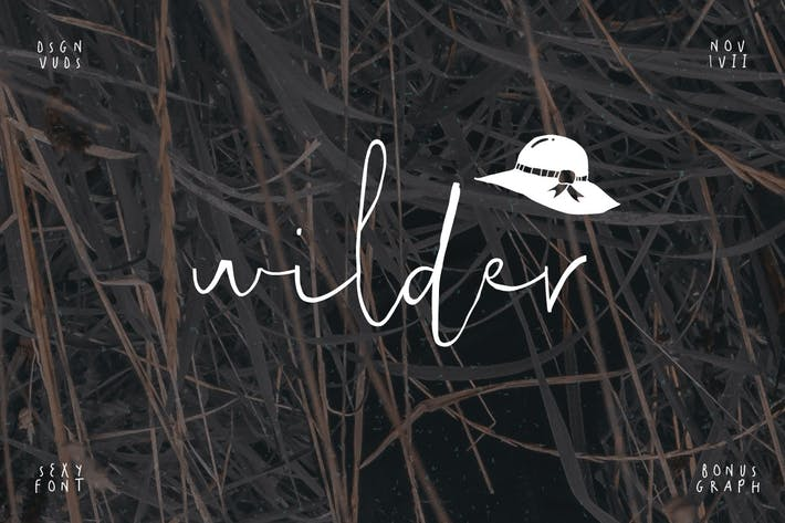 Thumbnail for Wilder Font & Graphic