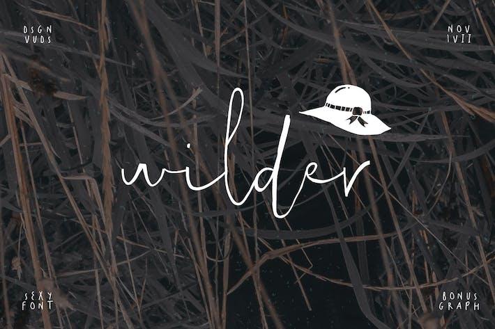 Wilder Font & Graphic