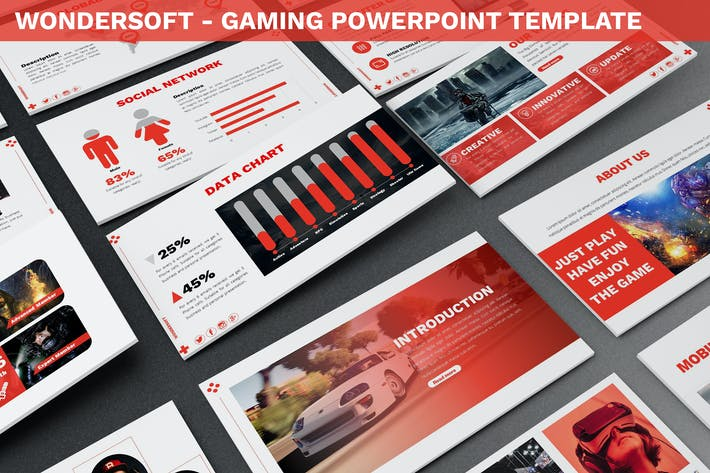 Thumbnail for Wondersoft - Gaming Powerpoint Template