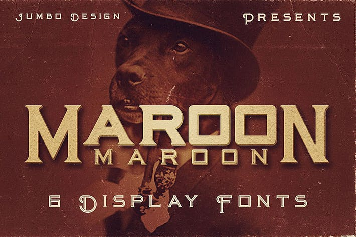Thumbnail for Maroon - Vintage Style Font