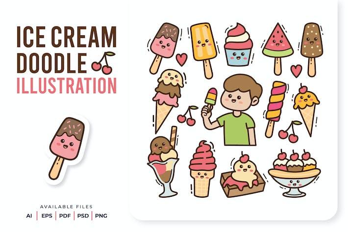 Eiscreme Doodle