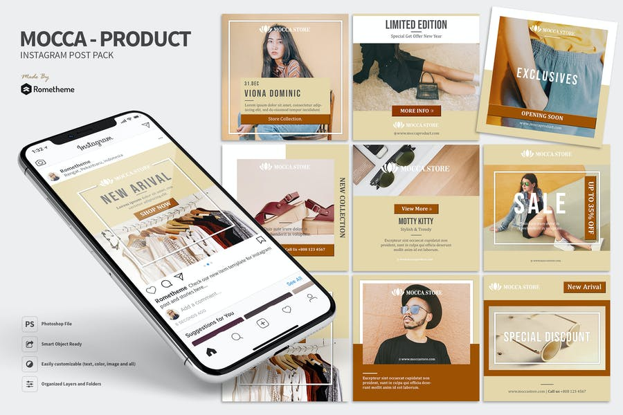 Mocca - Minimal Product and Sale Instagram Post HR