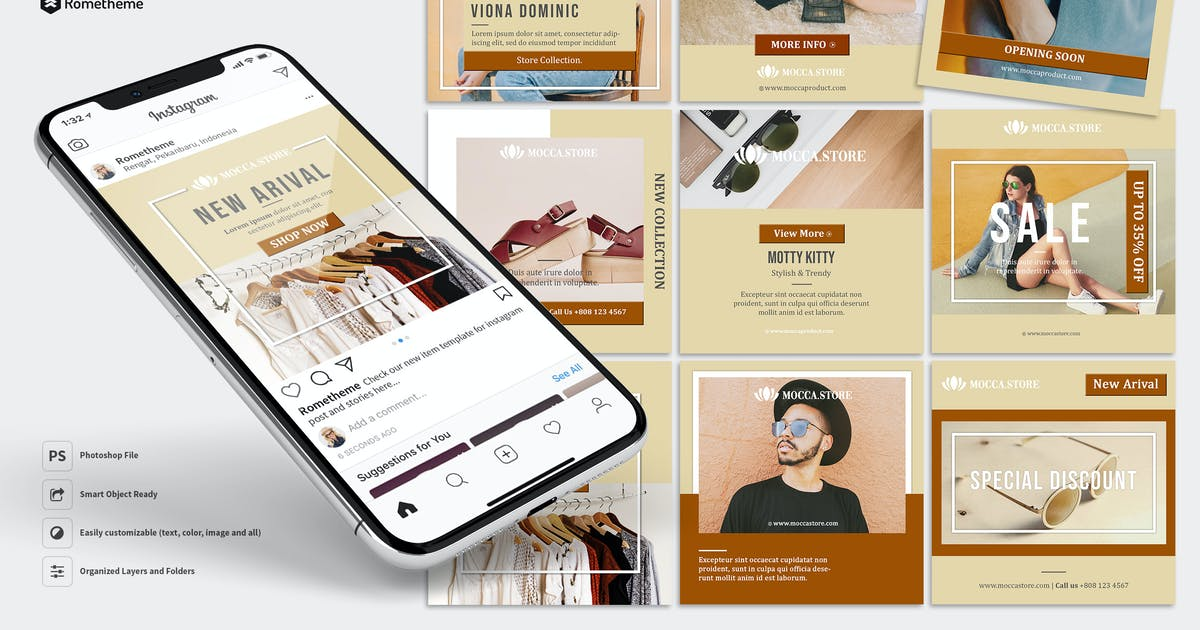 Download Mocca - Minimal Product and Sale Instagram Post HR by Rometheme