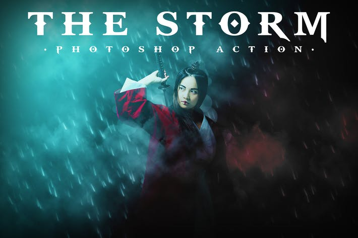 Thumbnail for The Storm Photoshop Action
