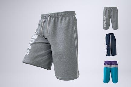 Herren Athletic Shorts Mock-Up