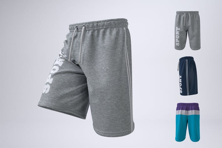 Thumbnail for Man's Athletic Shorts Shorts Mock-Up