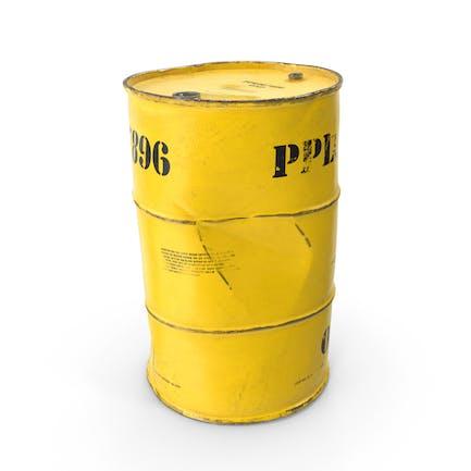 Antiguo barril de desechos radiactivos