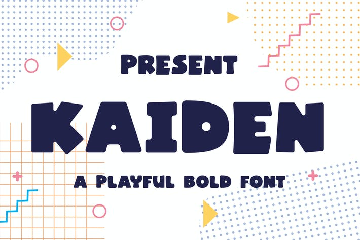 Thumbnail for Kaiden Typeface - A Playful Bold Font