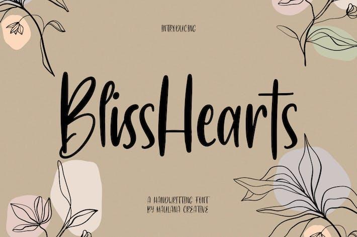Шрифт рукописного ввода BlisShearts