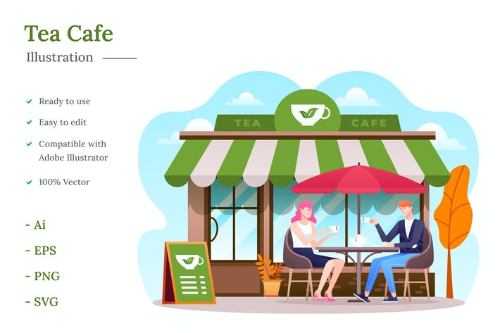Thumbnail for Tea Cafe Illustration