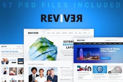 Reviver - Multi-Purpose PSD Template