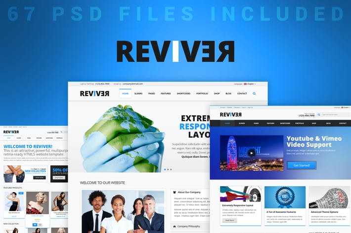 Thumbnail for Reviver - Multi-Purpose PSD Template