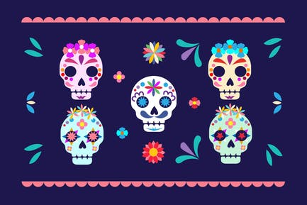 Dia de Muertos Festival & Day of the Dead Skulls
