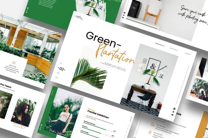 Green Plantation - Botanic & Tropical Google Slide