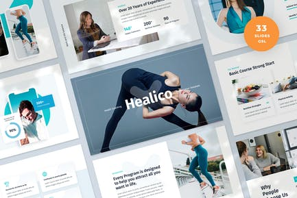 Health Coaching Slides Presentation Template
