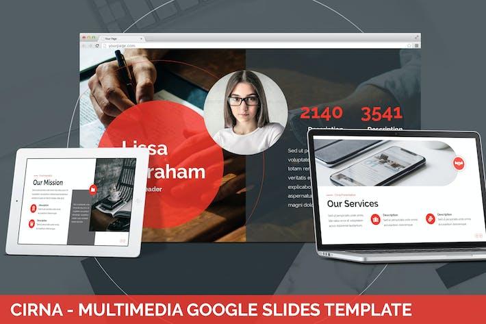 Thumbnail for Cirna - Мультимедиа Google Слайды Шаблон